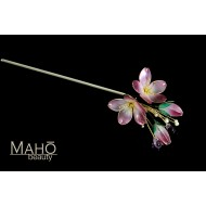 Exquisite handmade JAPANESE KANZASHI hair comb Purple Sakura