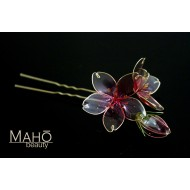 Exquisite handmade JAPANESE KANZASHI hair comb Purple Sakura S