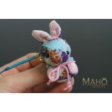 Cute Japanese kimono USAGI bunny rabbit with ribbon blue