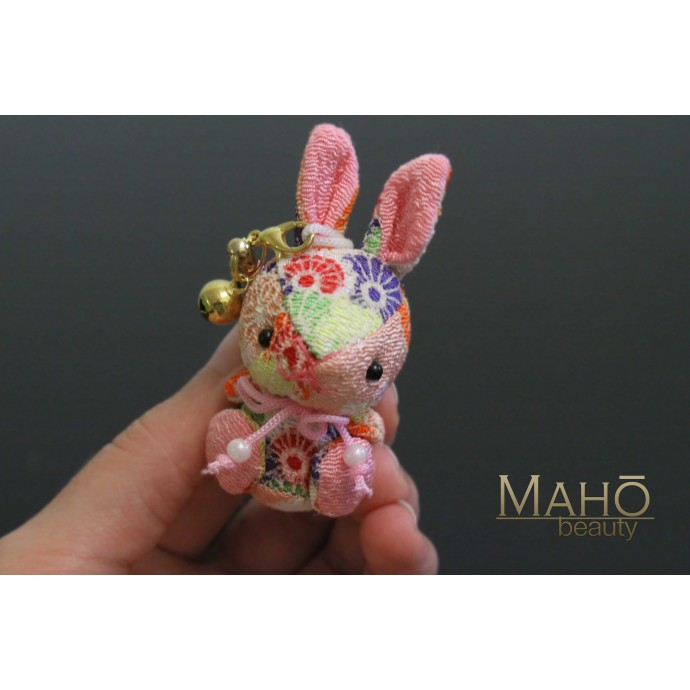 Cute Japanese kimono USAGI bunny rabbit with ribbon