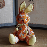 Japanese kimono Chirimen Rabbit – Usagi. Adorable design accessory