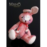 Japanese kimono Chirimen crepe Rabbit – Usagi: Adorable design toy Sakura PINK