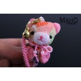 Little Japanese kimono Chirimen teddy bear with cute ribbon. Adorable design accessory