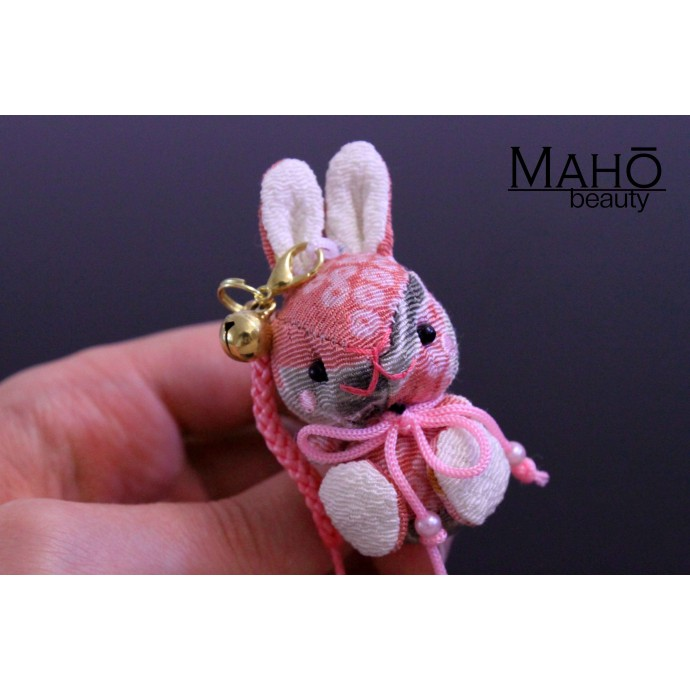 Cute Japanese kimono USAGI bunny rabbit with ribbon pink