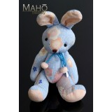 Japanese kimono Chirimen crepe Rabbit – Usagi: Adorable design toy Sky Blue