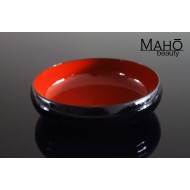 Elegant Traditional style Yamanaka lacquerware Japanese appetizer plate: Red/black