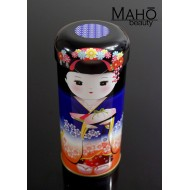 Decorative Japanese tea can Caddy Maiko BLUE 55g Genmaicha