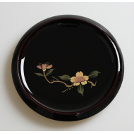 Aizu lacquerware Refined Japanese style appetizer plate 溜塗