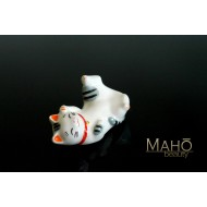 Japanese Maneki neko porcelain Chopstick Rest Happy