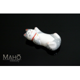 Japanese Maneki neko porcelain Chopstick Rest sleeping cat Grey