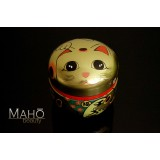 Decorative tea can Caddy box Container Maneki Neko 100g 招き猫 Gold