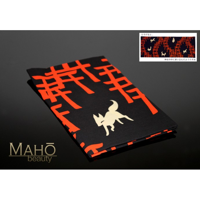 Fushimi Inari Shrine Gate Torii Foxes Japanese Tenugui Cotton cloth towel