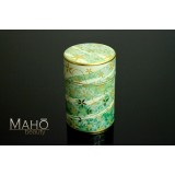 Decorative tea can Caddy 100g 花あそび green
