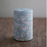 Decorative Japanese tea can Caddy Washi origami Pastel sakura 100g