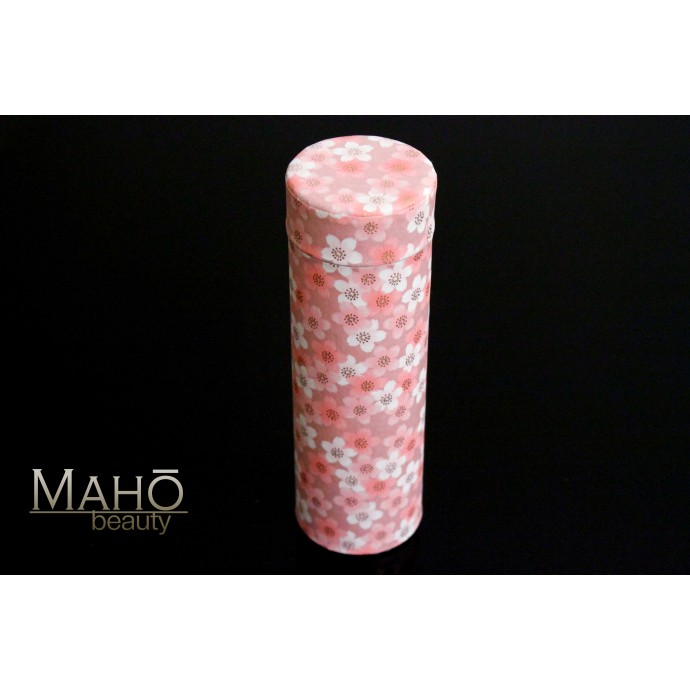 Decorative Japanese tea can Caddy Washi origami Pink Sakura 80g