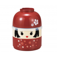 Hakoya Japanese lunch bento box Kokeshi doll hanako
