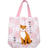 A4 Japanese Reusable Shopping Totte Bag wasabi Shibata san Sakura Cherry