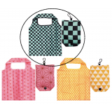 Japanese Reusable Shopping Totte Bag Ichimatsu Blue Checkered