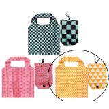 Japanese Reusable Shopping Totte Bag Triangles Uroko Yellow
