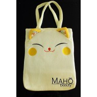 Japanese kimono Chirimen bag: Cute and stylish design accessory: Yellow