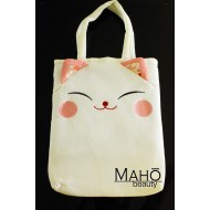Japanese kimono Chirimen bag: Cute and stylish design accessory: White