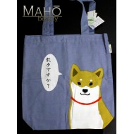A4 Japanese Reusable Shopping Totte Bag wasabi Shibata san blue