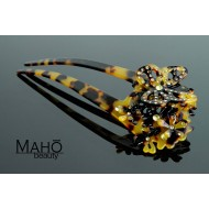 Luxurious JAPANESE hair accessory – ornamental KANZASHI HAIRPIN:  tortoiseshell decorative butterfly