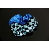 Cute JAPANESE kimono pattern hair gum band ICHIMATSU BLUE CHECKERED