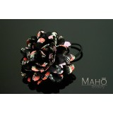 Beautiful Japanese Kimono Pattern Hair band gum Black Dahlia