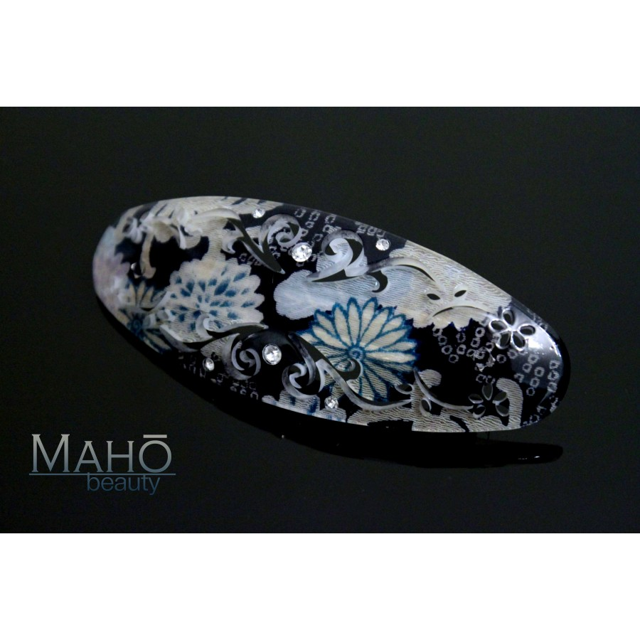 Japanese Hair Accessory Ornamental Hair Clip Blue