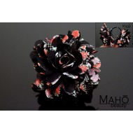 Charming Japanese Kimono Pattern Flower Hair clip black