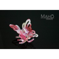 """JAPANESE hair accessory – ornamental hair clip: kimono pattern in transparent acrylic """"Butterfly"""""""