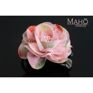 Charming Japanese Kimono Pattern Rose Hair clip Pink