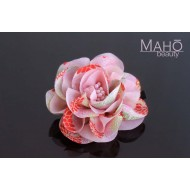 Adorable Japanese Kimono Pattern Hair clip Pink Rose