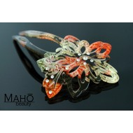 JAPANESE hair accessory – ornamental KANZASHI HAIRPIN:  Glamurous cherry blossoms