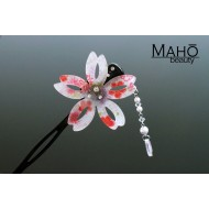 JAPANESE hair accessory - Modern Kanzashi hairpin. Sakura with bouncy petals