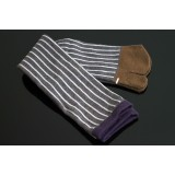 Japanese longer style TABI SOCKS 22 – 25 cm Stripes Gray