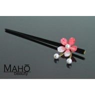 JAPANESE hair accessory – KANZASHI HAIRPIN: Sakura cherry tree PINK