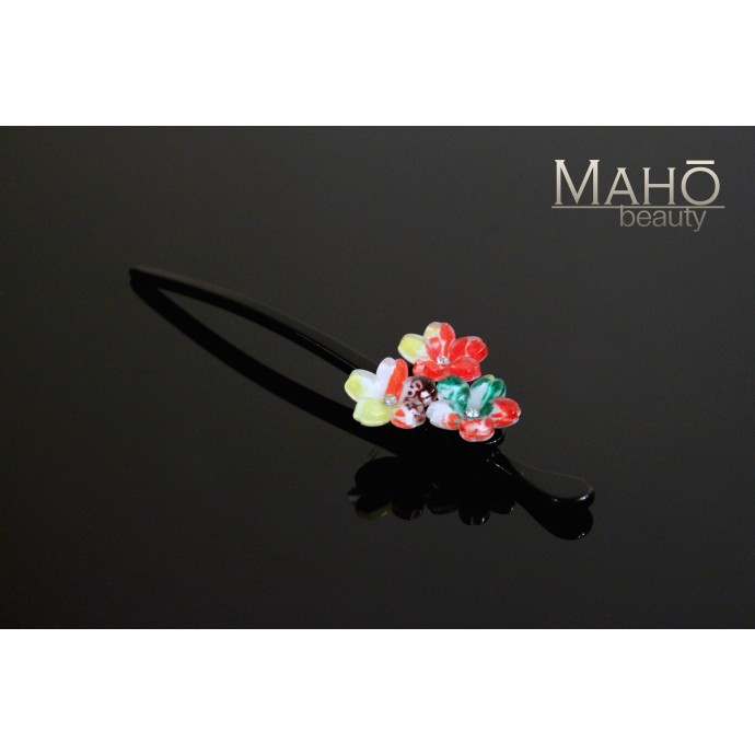 "Ornamental KANZASHI HAIRPIN ""Kozakura"" cherry tree"