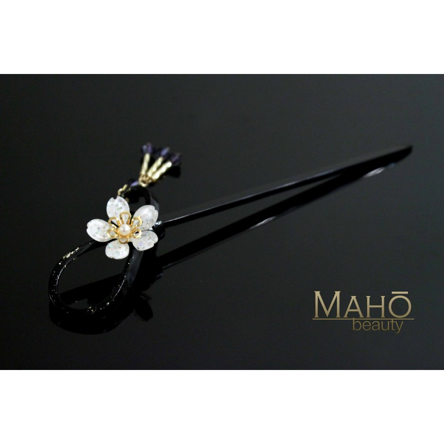 Japanese Kanzashi Hairpin Sakura Cherry Tree White 白