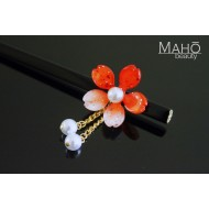 JAPANESE hair accessory – ornamental KANZASHI HAIRPIN: Sakura cherry tree