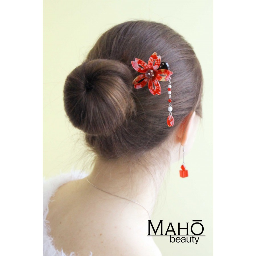 Japanese Hair Accessory Modern Kanzashi Hairpin Sakura