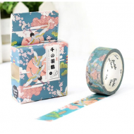 Bentoto Washi Masking Tape Craft Sticker Japanese Crane birds Ukyo-e