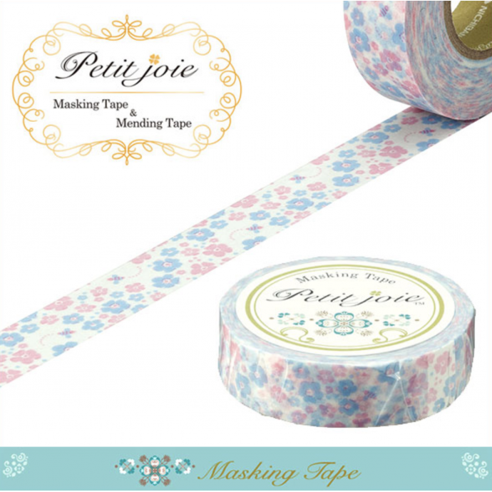 18m Washi Masking Tape Craft Sticker Forget-me-not 勿忘草 Wasurenagusa