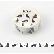 BGM Washi Masking Tape Craft Sticker Japanese pattern black cat 7m