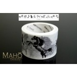 Washi Masking Tape Craft Sticker ink Horses Sumi-e 5m