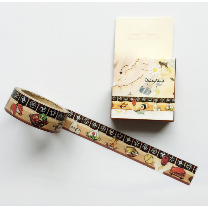 Kawaii Washi Masking Tape Craft Sticker Sushi 5 METRES