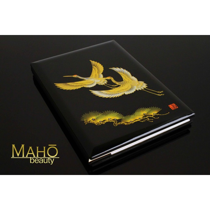"Luxurious Japanese Traditional Lacquerware Maki-e style notebook ""Tsuru"""