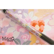 Akashiya Koto-Japanese Brush Pen With Beautiful Patterns -  purple