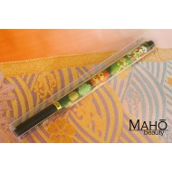 Akashiya Koto-Japanese Brush Pen With Beautiful Patterns - Green ornaments